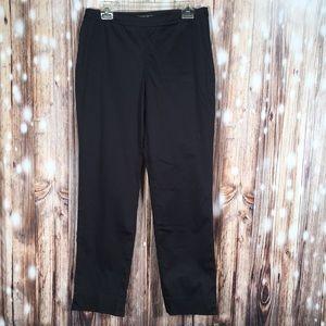 Lafayette 148 Black Bleecker Side Zip Pants 8